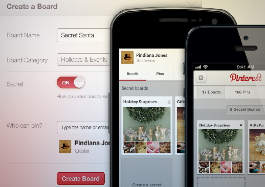 create a secret board in pinterest