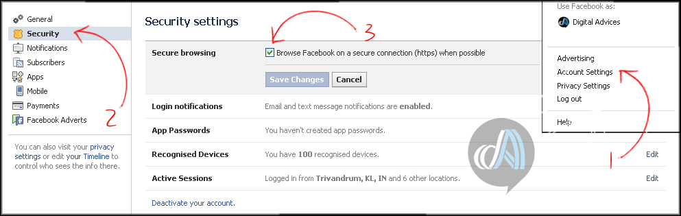 Tips to Secure your Facebook account