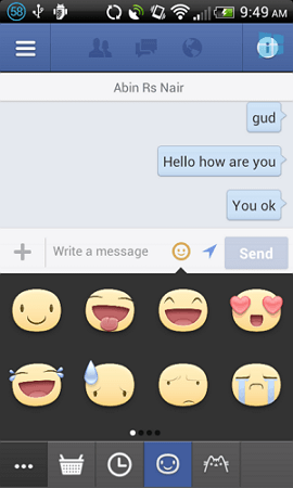 Facebook chat stickers