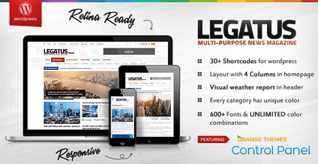 Legatus wordpress theme