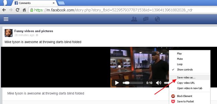 download fb video