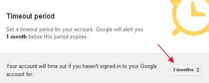 setup google inactive account