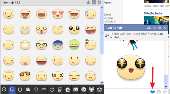 fb chat sticker desktop