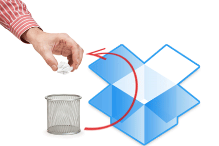 Recover deleted files from dropbox