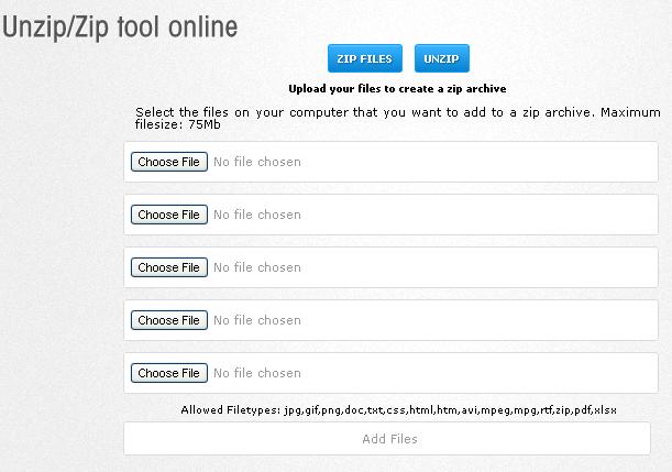 Zip and UnZip files Online 1