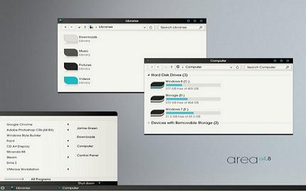 aero windows 8 visual style