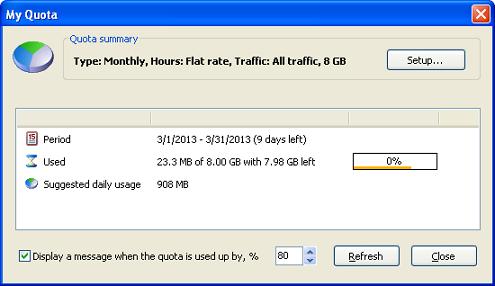 bandwidth quota