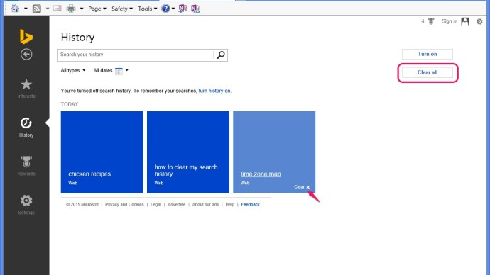 clear bing search history 3