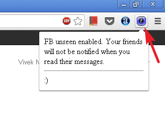 fb unseen for chrome disable