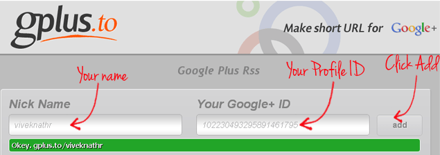 Customize Google Plus URL With GPlus