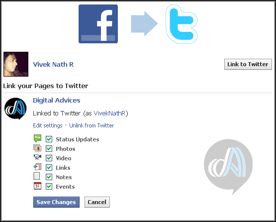 Automatically post Facebook updates to Twitter