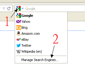 manage search engines in firefox