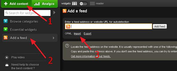 netvibes restore google reader
