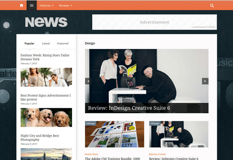 newses thenextweb inspired theme