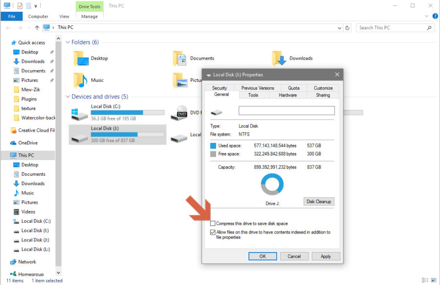 Compress Drive To Save Disk Space Using NTFS Compression?