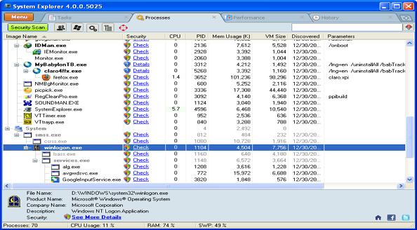 system explorer windows taskmanager alternative