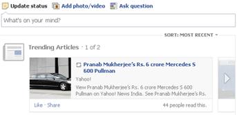 trending articles in facebook