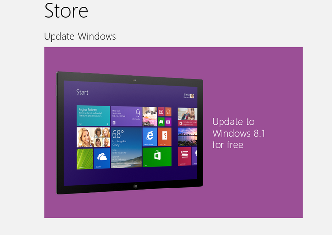 update windows8.1 free