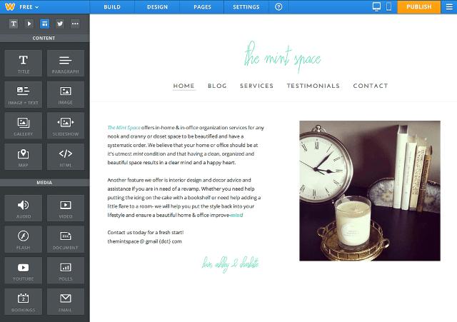 weebly free website creator